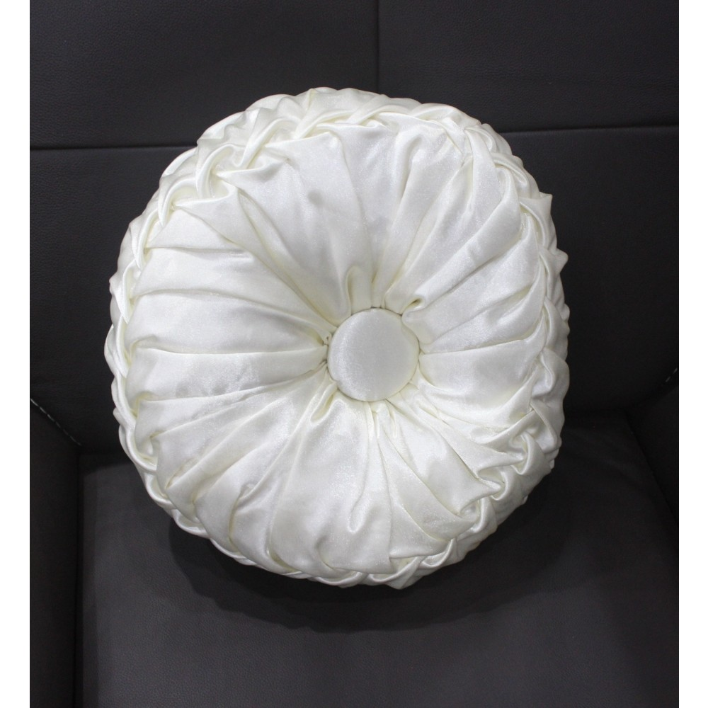 Coussin Circulaire Blanc.