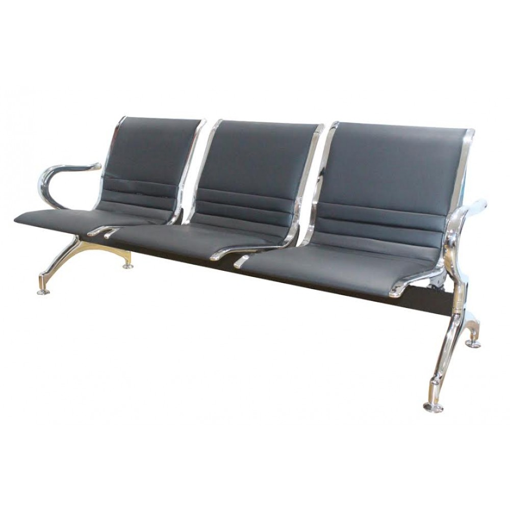 Banc d'attente metal 3 places avec mousse CV-B03F
