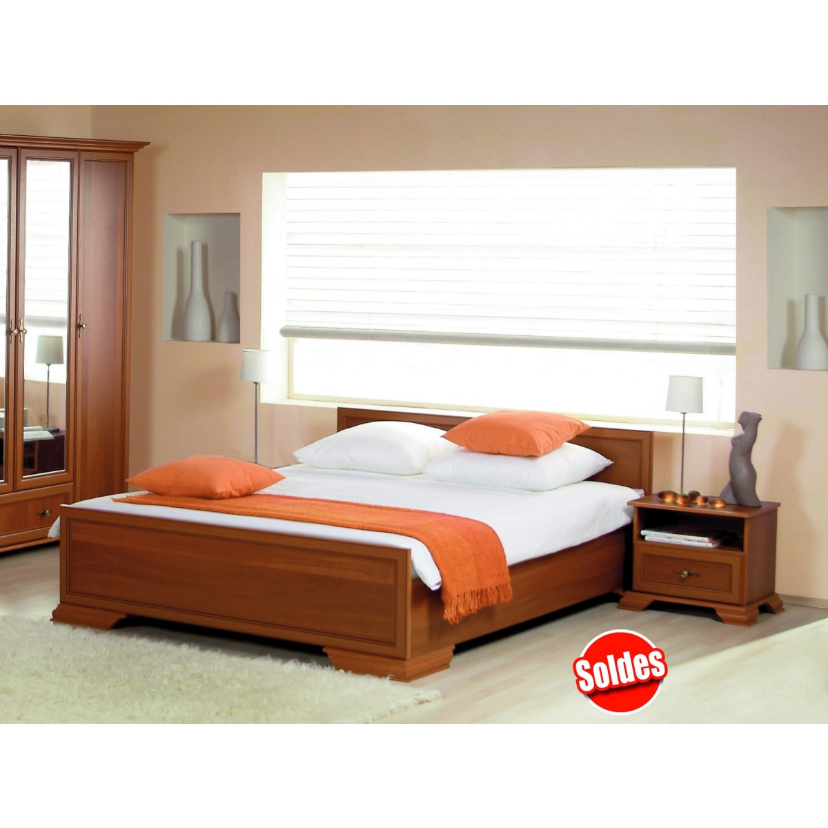 Bedroom Bed-KLAUDIA + coffers. - Furniture for adult bedroom ...