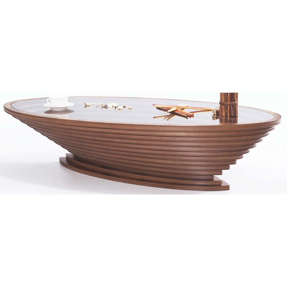 Oval pedestal table with stairs. G-127