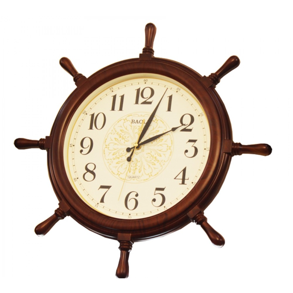 Ship Wheel Rudder Modern Wall ClockPE-23184A.