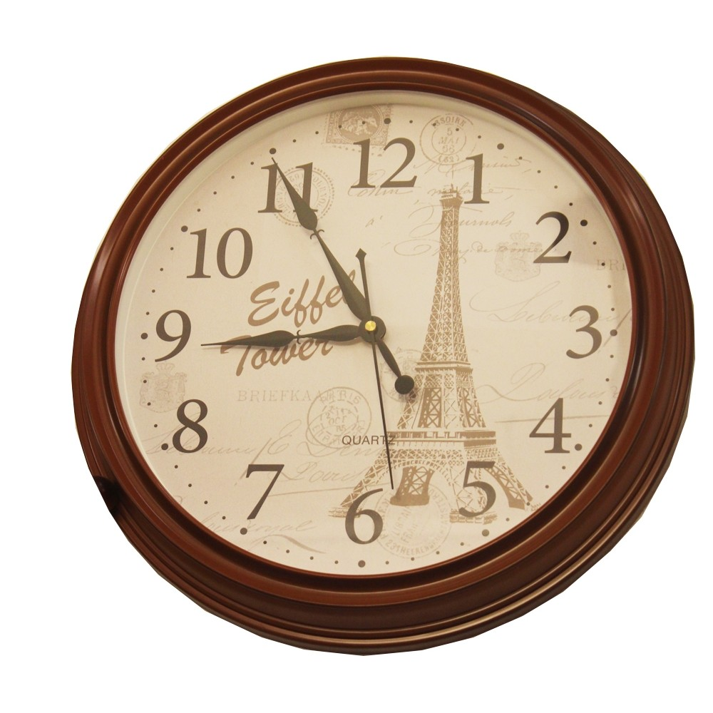 Brown wall clock PE-2459