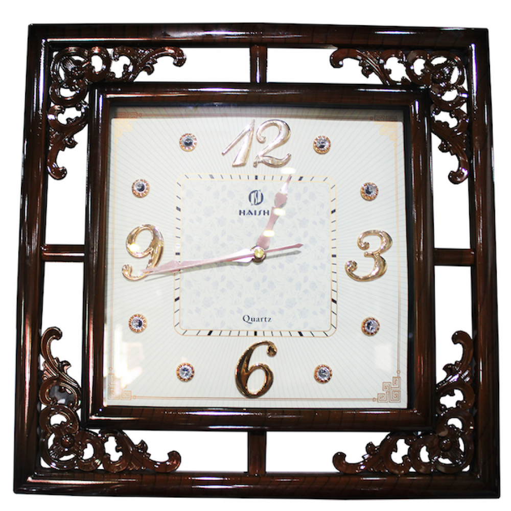 Brown Wall Clock P-24T