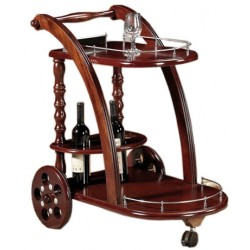 Wooden food trolley CH-T05