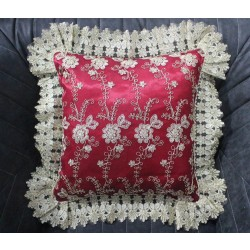 Red MEGALUX  Lace Cushion 45X45