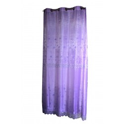 Light purple curtain with Satine veil