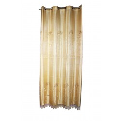 Gold brown curtain.