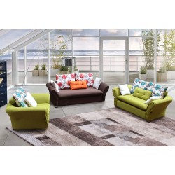 Canvas sofa set S-A932-2/6P